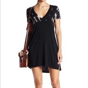 Gypsy 05 NWT Casual V neck Black Dress Medium